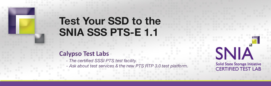 SNIA SSS Certified Test Lab